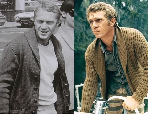 Steve McQueen shawl collar cardigans