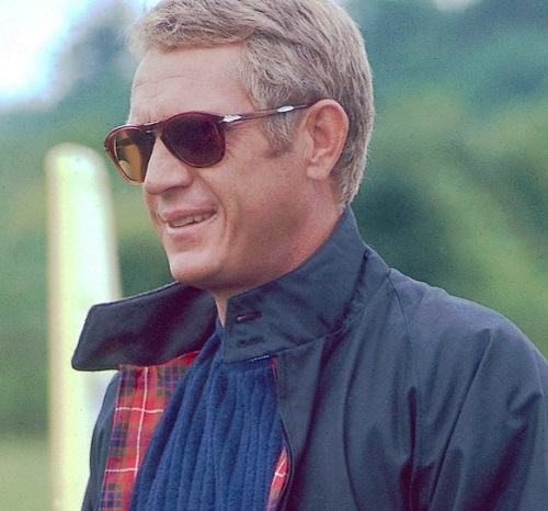 Steve McQueen Spring Style Thomas Crown Affair Harrington and Sunglasses
