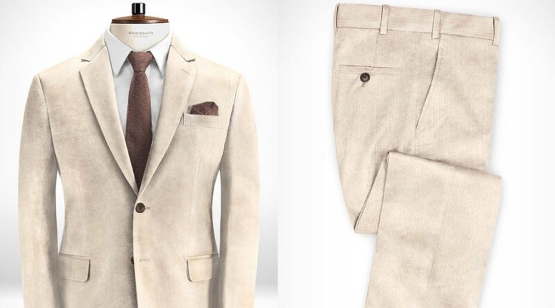 Studio Suits Light Beige Corduroy Suit review
