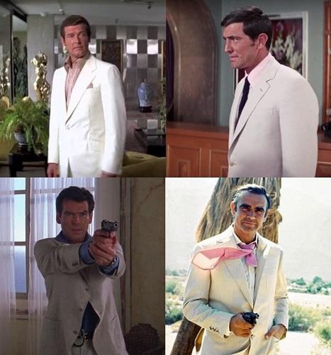 James Bond cream linen suit