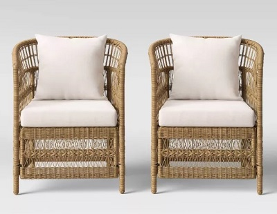 James Bond No Time To Die Jamaica House budget wicker rattan chair