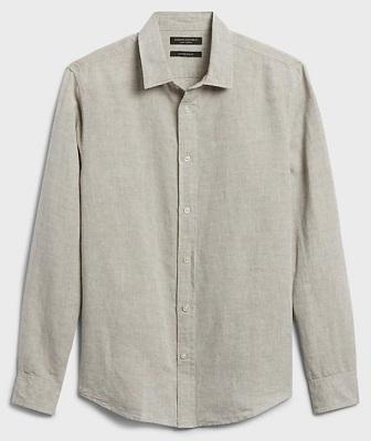 Daniel Craig James Bond No Time To Die beige Linen Shirt budget alternative