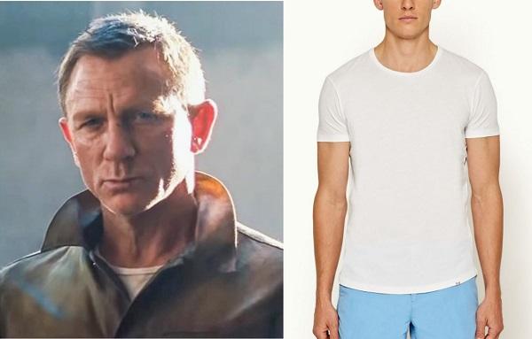 James Bond No Time To Die white tshirt