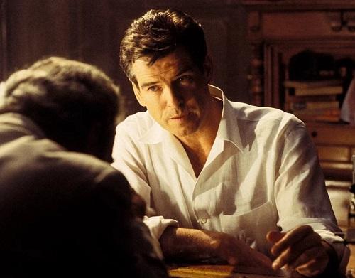 Pierce Brosnan James Bond Die Another Day white linen shirt