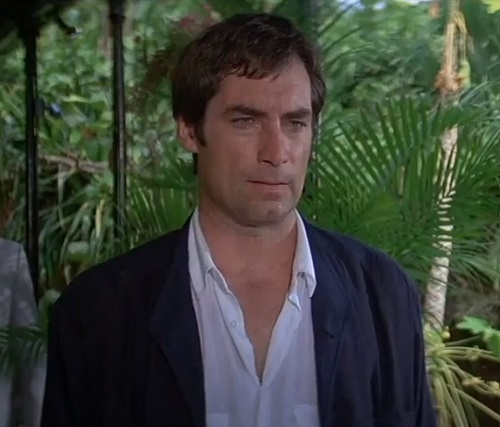 Timothy Dalton James Bond License To Kill white utility shirt