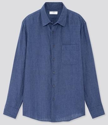 Pierce Brosnan James Bond Tomorrow Never Dies blue linen shirt budget alternative