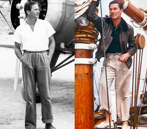 Errol Flynn Golden Age of Hollywood trousers