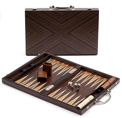 James Bond style backgammon board game