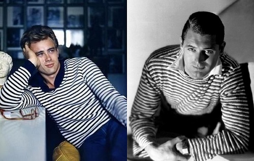 Menswear style icons James Dean and Cary Grant