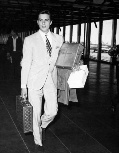 Alain Delon Louis Vuitton luggage