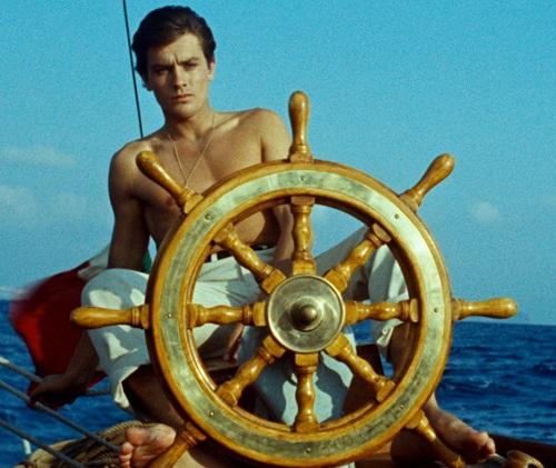 Alain Delon in Plein soleil, the 1960 film that made him a star. Photo sourced from Little White Lies.m