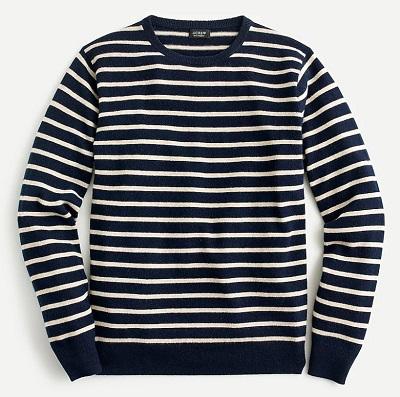 J.Crew Cashmere Breton Stripe Sweater