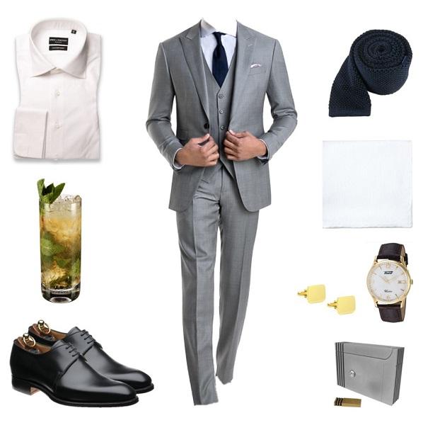 Favorite Bond Looks Goldfinger 3 piece suit