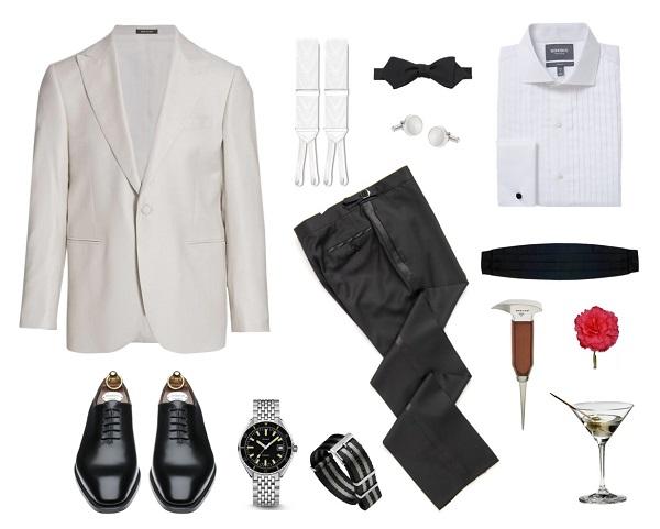 Favorite Bond Looks SPECTRE White Jacket Black Tie