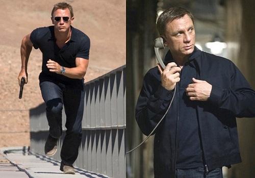 Daniel Craig James Bond Quantum of Solace Harrington Jacket