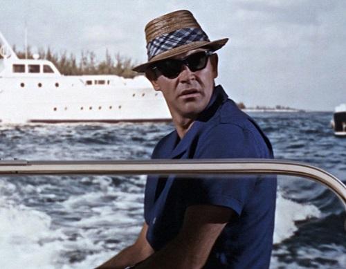 Sean Connery James Bond straw hat Thunderball