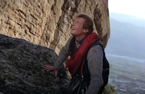 Roger Moore James Bond For Your Eyes Only Rock Climbing