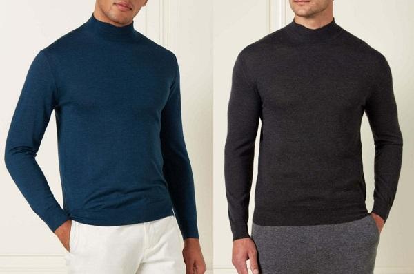 NPeal 007 Fine Gauge mock turtle neck sweater