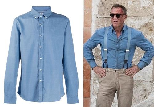 Daniel Craig James Bond No Time To Die Matera Blue Shirt