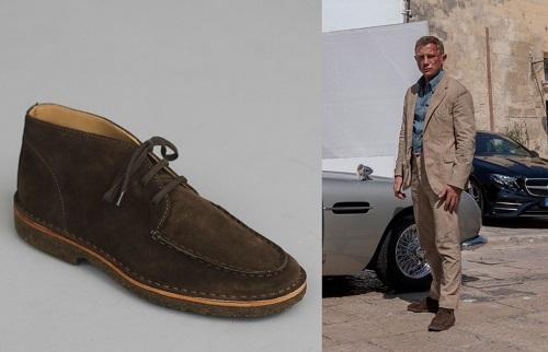 Daniel Craig James Bond No Time To Die Drake's Crosby suede chukka boots