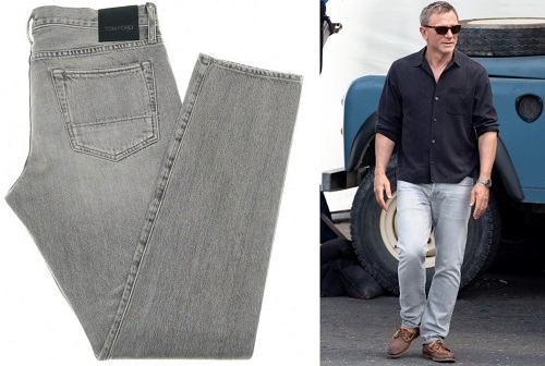 Daniel Craig James Bond No Time To Die Tom Ford grey jeans