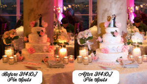 CAKE Pin Spot St Louis Missouri Dj Service lighting effect