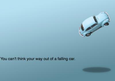 falling car image