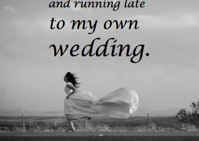 running late to wedding