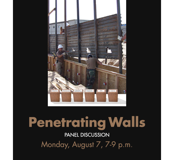 """""""Penetrating Walls"""" Monday evening, August 7, 2017 – Sandy Bleifer's panel discussion at FM Fine Art Gallery (834 N. La Brea Ave., L.A.) or watch LIVE on facebook"""