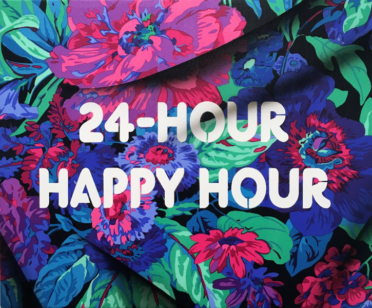 ART TODAY 08.25.17: Adam Mars' 24-hour Happy Hour must feel like this when you can paint beautiful fabric and inspire at the same time