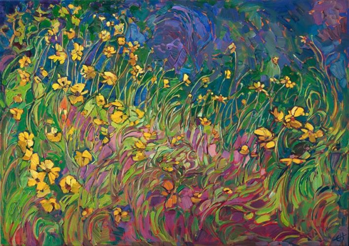 New Year ART REVIEW of Erin Hanson: Fresh from her easel – Super Bloom Paintings