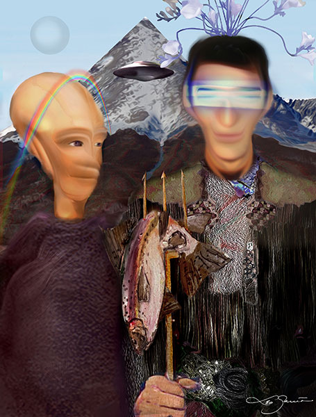 """ENCORE of 'American Alien,' culturally abducted and appropriated from """"My Alien Abduction"""" by Leo Garcia – Get link to entire story and exhibit"""