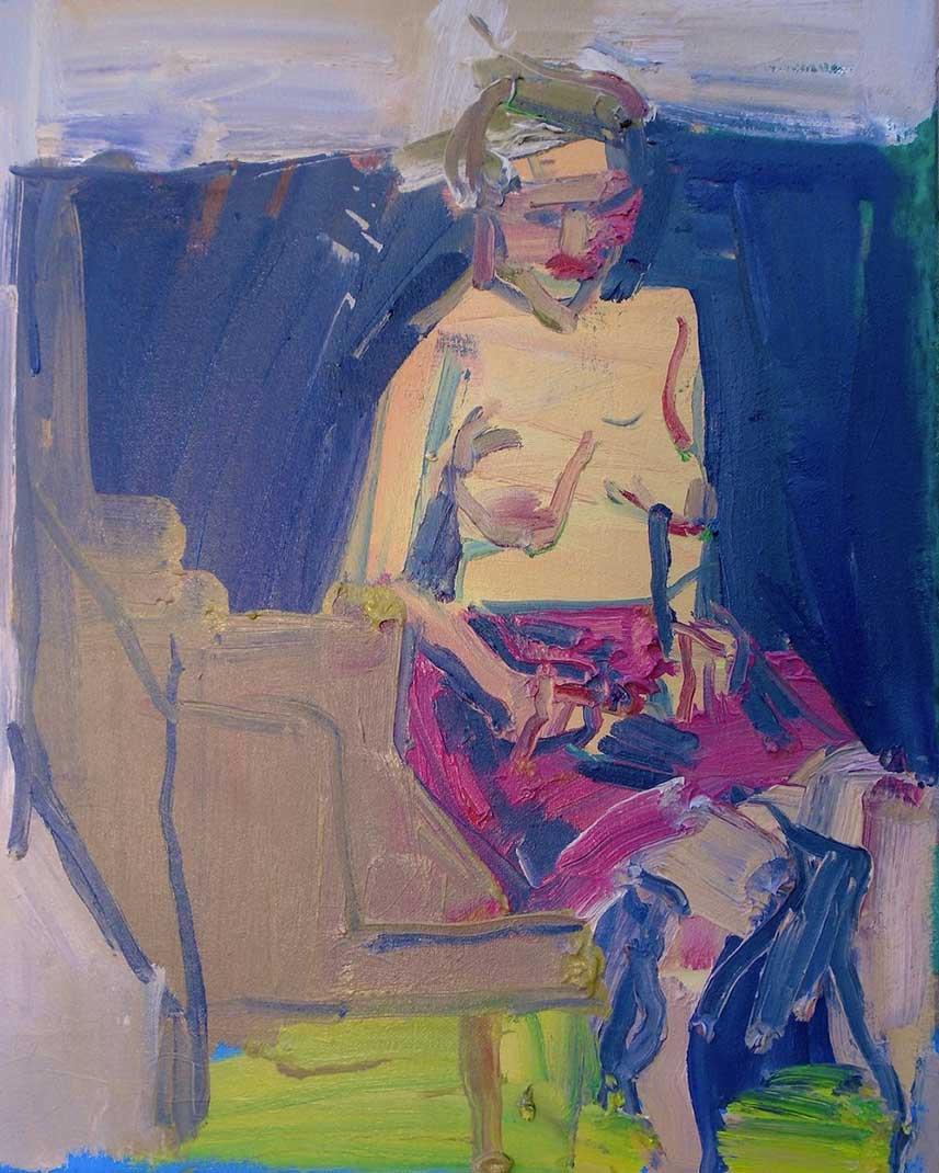 "ART TODAY 030618 Figurative painter Jennifer Pochinski's ""Nude with Pink Skirt"""