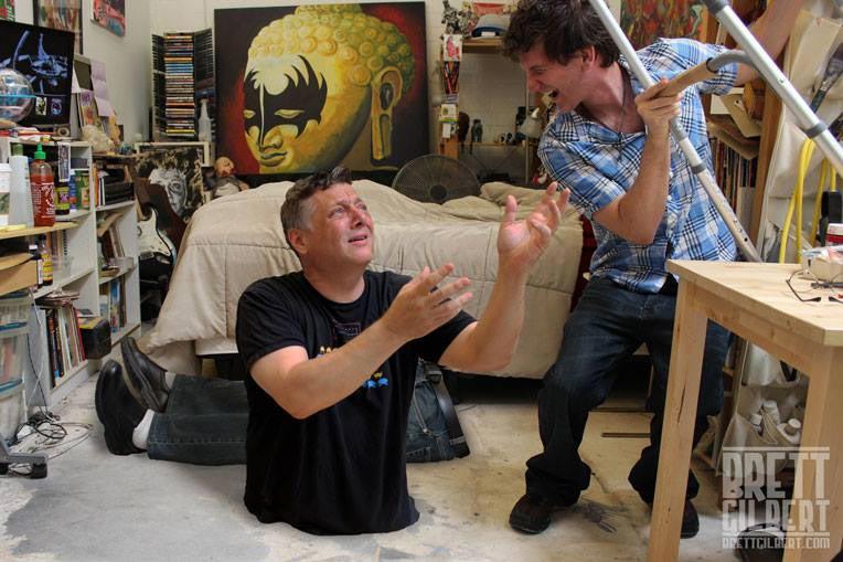 Chris Bonno writes about Brett Gilbert, the writer-comedian, father, illustrator, whimsical photographer, poster-ad designer, and oil painter