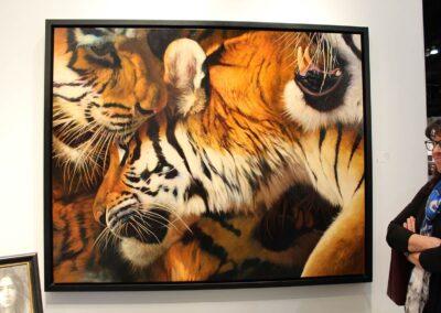 No Bad --- The Tigers at LA Art Show with Janice Bremec Plum
