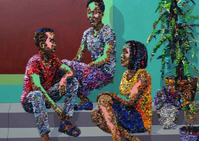 Like Other Days conversation series by Marcellina Akpojotor, courtesy of Rele Gallery/LA Art Show 2020