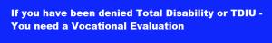 SSVE TDIU Vocational Evaluation