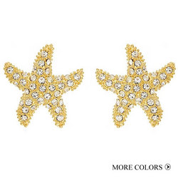 FORNASH - SMALL GOLD STARFISH EARRING