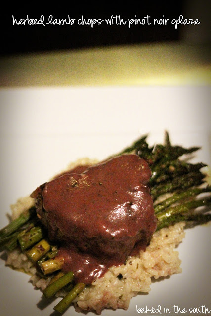 Herbed Lamb Chops with Pinot Noir Glaze