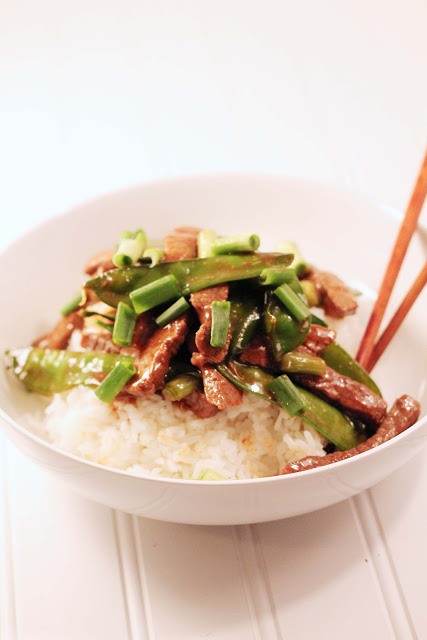 Pioneer Woman's Beef with Snow Peas