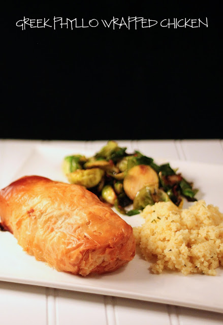 Greek Phyllo Wrapped Chicken with Spinach & Goat Cheese