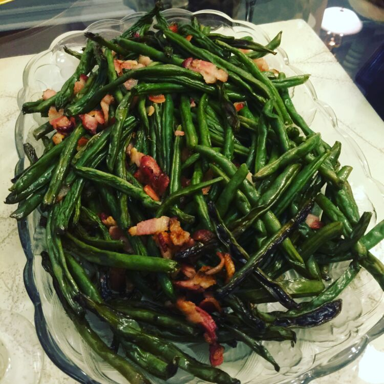 Bacon Roasted Green Beans