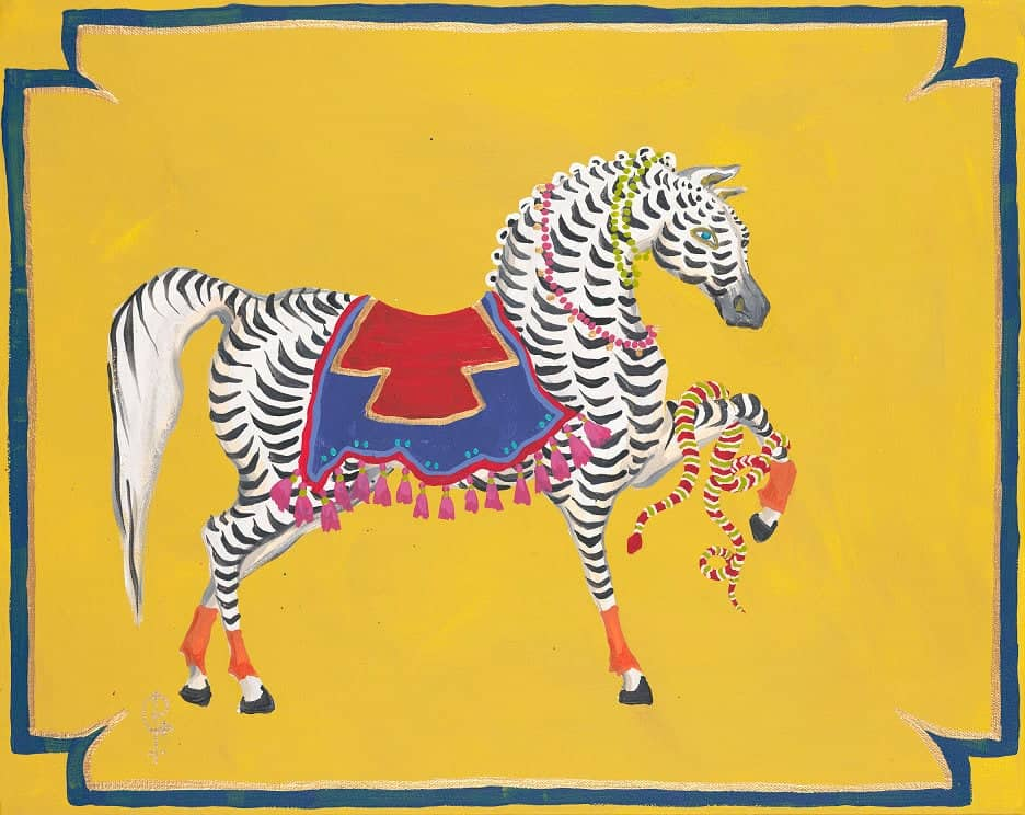 ART PRINT Scalloped horse with cross blanket by Paige Gemmel