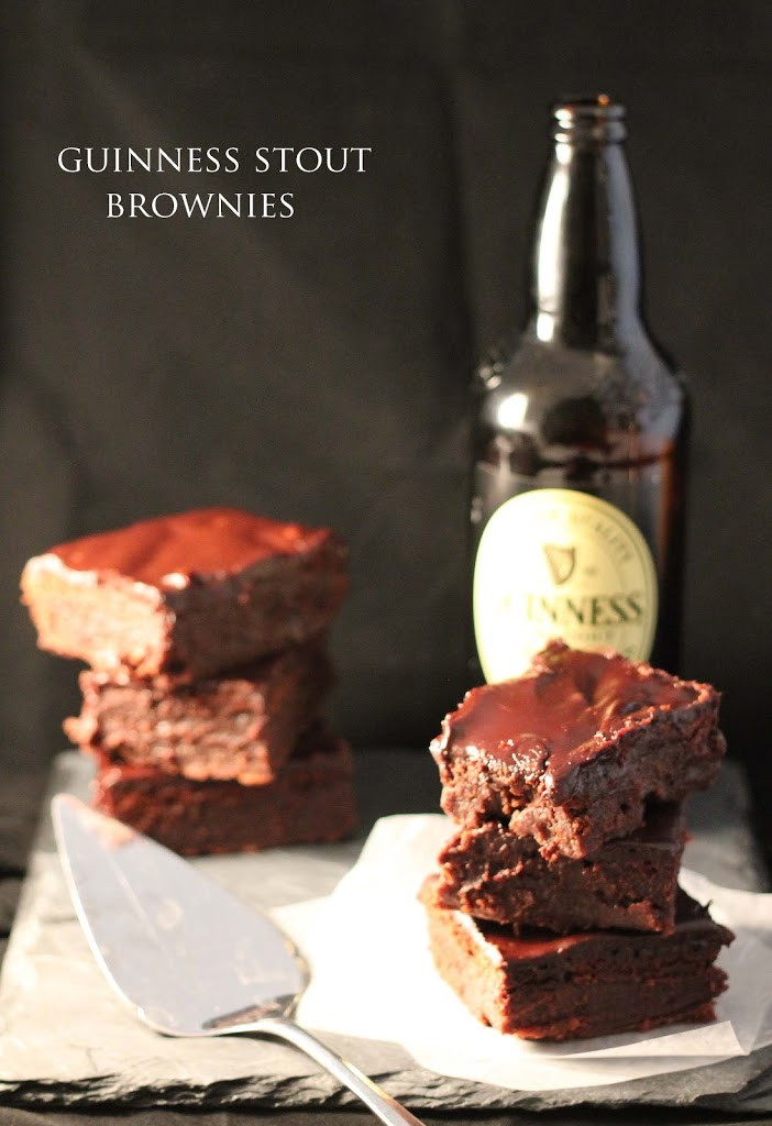 GUINNESS CHOCOLATE STOUT BROWNIES