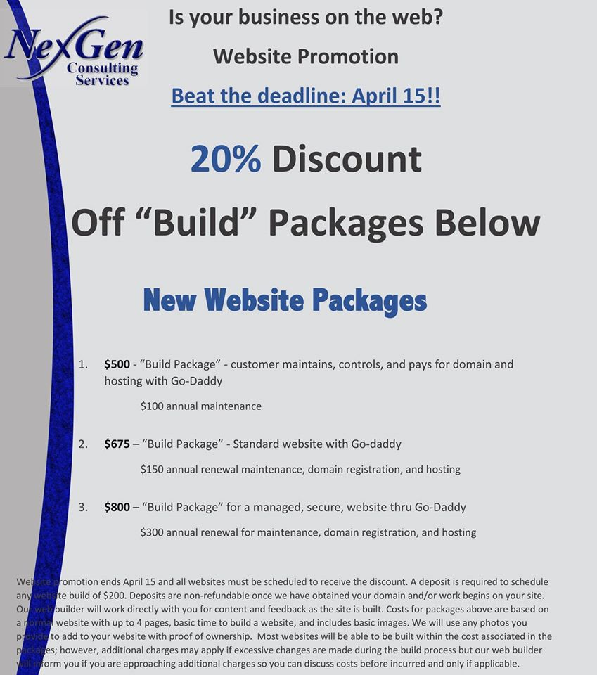 Web Building Promotion!