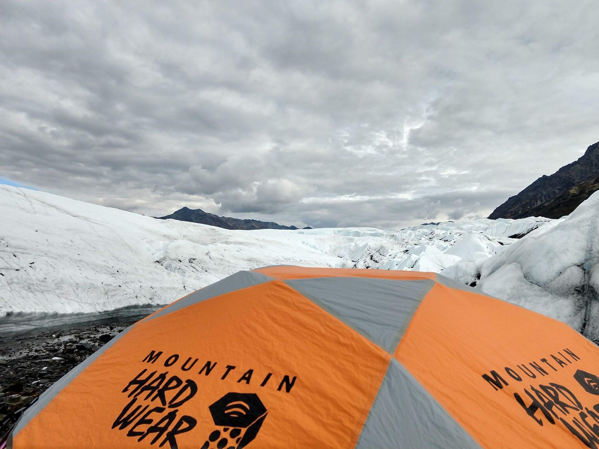 tent on Matanuska Glacier