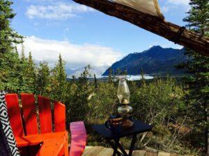 Alaska camping in luxury