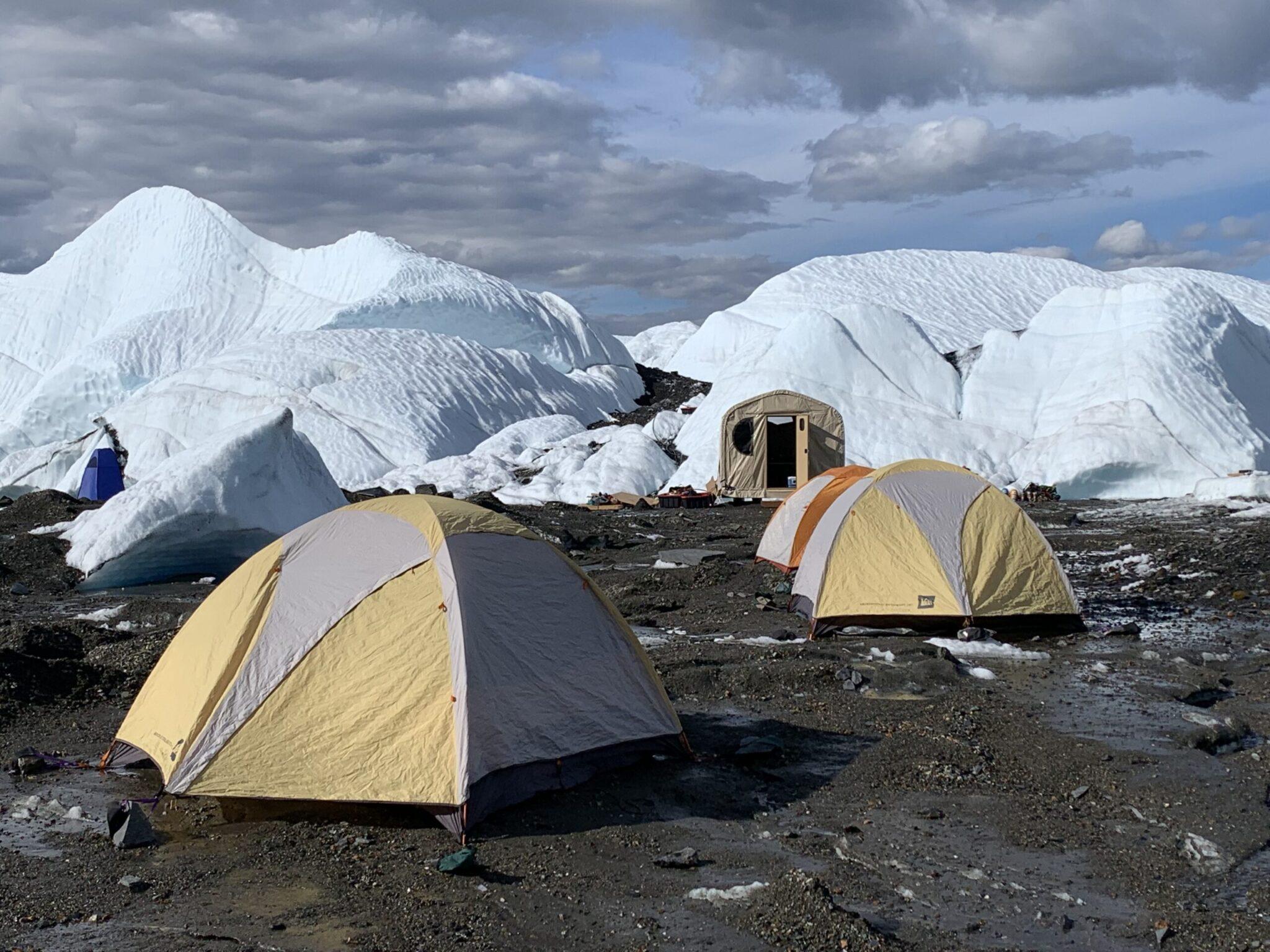 tents on the Matanuska Glacier