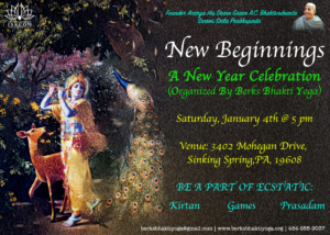 New Beginnings - New Year Celebration (Kirtan, Games, Dinner) in Reading @5pm