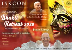 USA Canada Online Bhakti Retreat 2020 with His Grace Kratu dās Adhikārī - July 3rd to 5th, 2020 @ Online - Please Register for Details